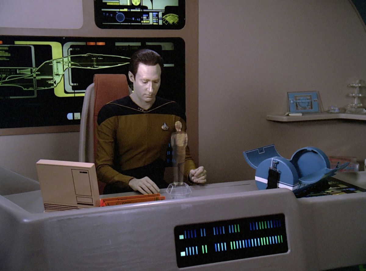 """Brent Spiner as Data in """"The Measure Of A Man"""""""