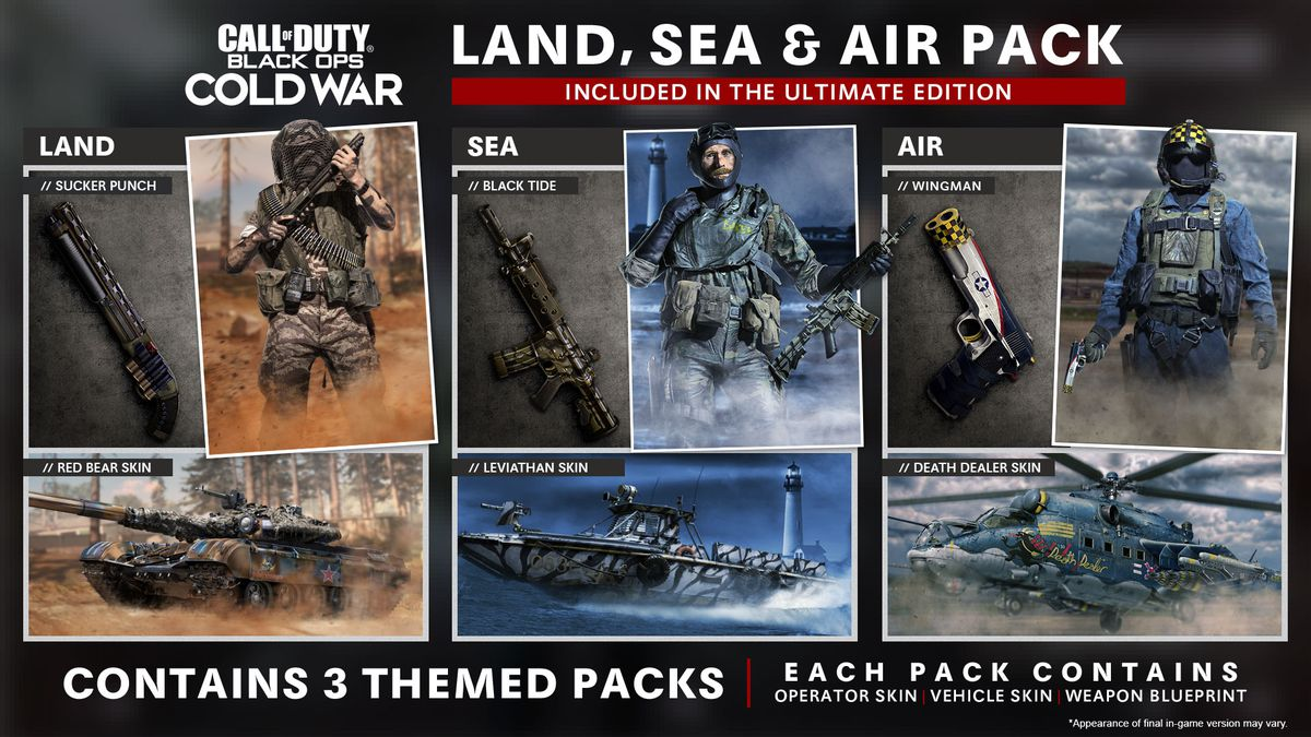 COD Cold War: Land, Sea, and Air Pack.