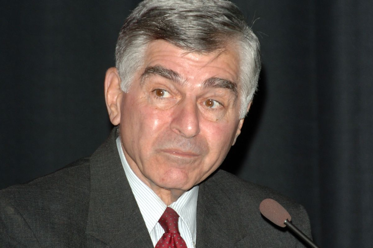 Former presidential candidate Michael Dukakis speaks at the HBO Documentary Films premiere of Addiction at the Hammer Museum on March 12, 2007, in Westwood, California.