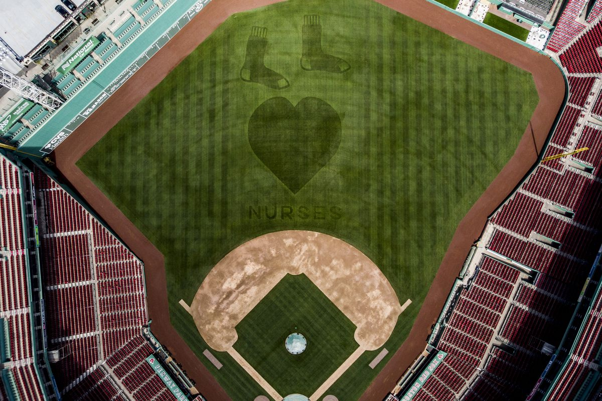 Boston Red Sox Outfield Grass Pattern