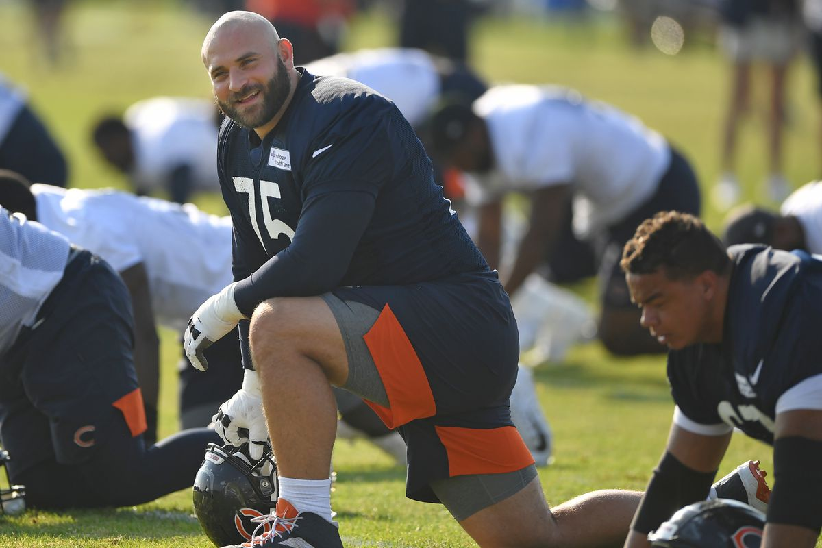 Kyle Long played seven seasons for the Bears before retiring this year.