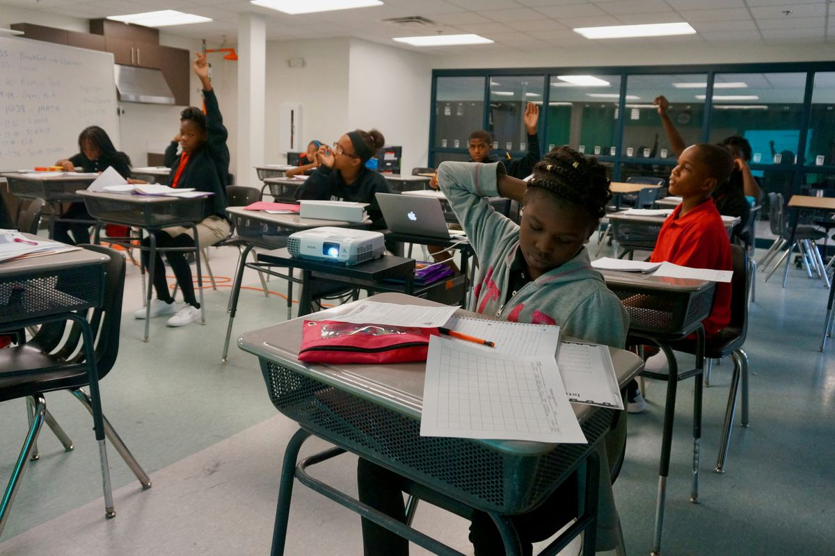 Students at the Phalen Leadership Academy middle school.