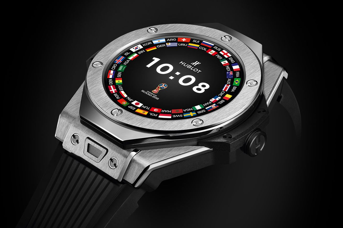 world cup referees will use hublot s new wear os watch to check for goals