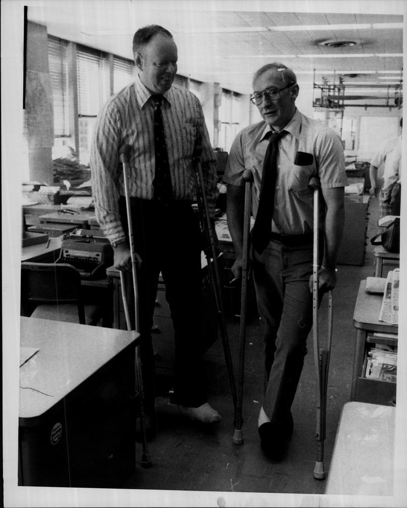 Robert J. Herguth and columnist Mike Royko both had long careers at the Chicago Daily News and the Chicago Sun-Times.