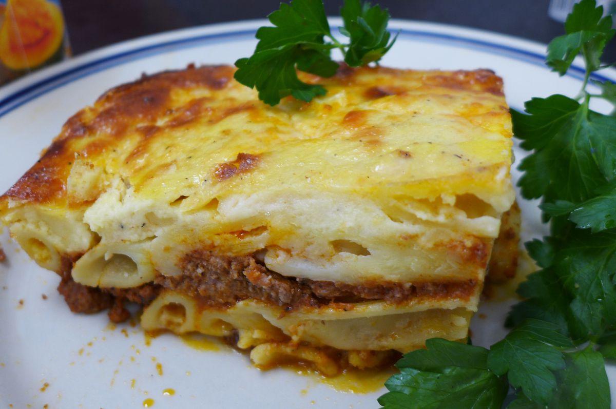 Macaroni bechamel at Little Egypt