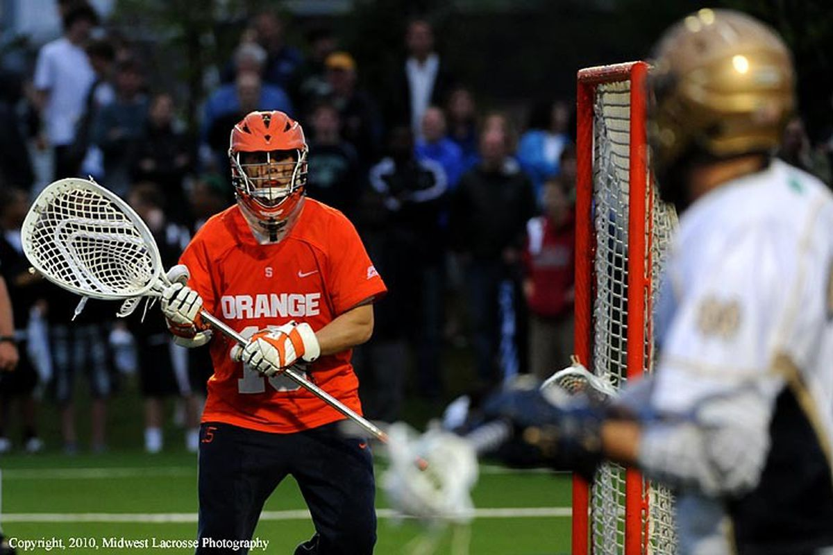 Can John Galloway match his 2010 numbers and lead SU to its 3rd National Championship in 4 years? (Courtesy of Lax.com)