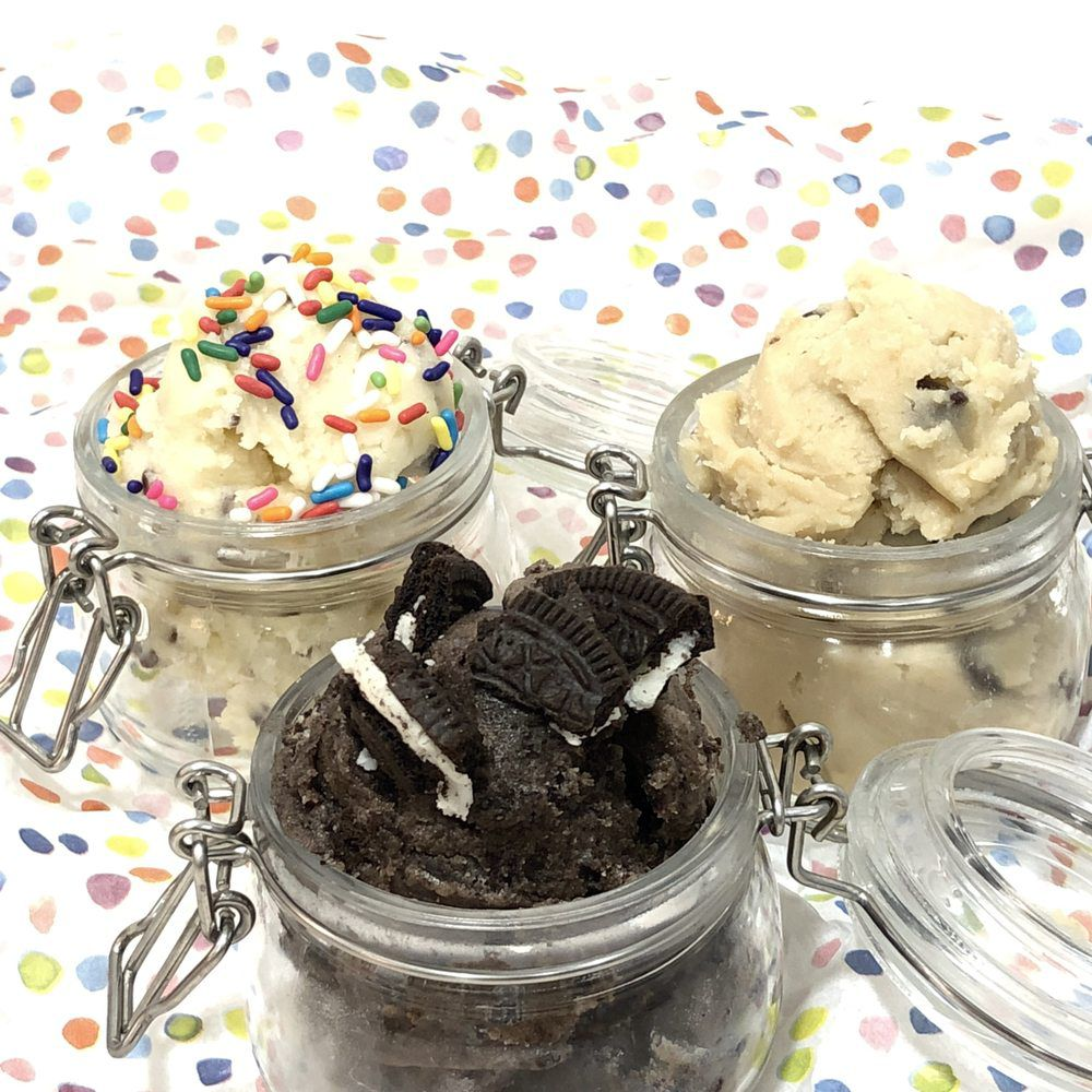 Edible cookie dough at Ice Scroll
