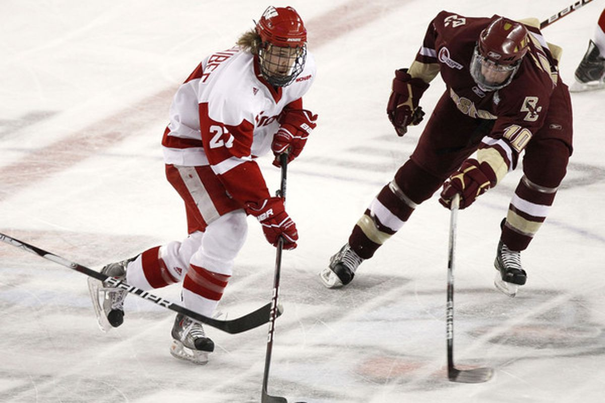 Cody Goloubef was the 22nd former Badger to play in the NHL this season.