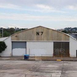 Hangar No. 7 at Eagle Farm airfield near Brisbane, Australia where Clyde Gessel worked on secret project to reconstruction Japanese Zeros during World War II.