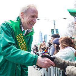 Governor Bruce Rauner at the 2018 Chicago St. Patrick's Day Parade, Saturday, March 17th, 2018. | James Foster/For the Sun-Times