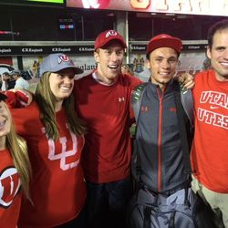The Covey siblings pose together after a Utah game.