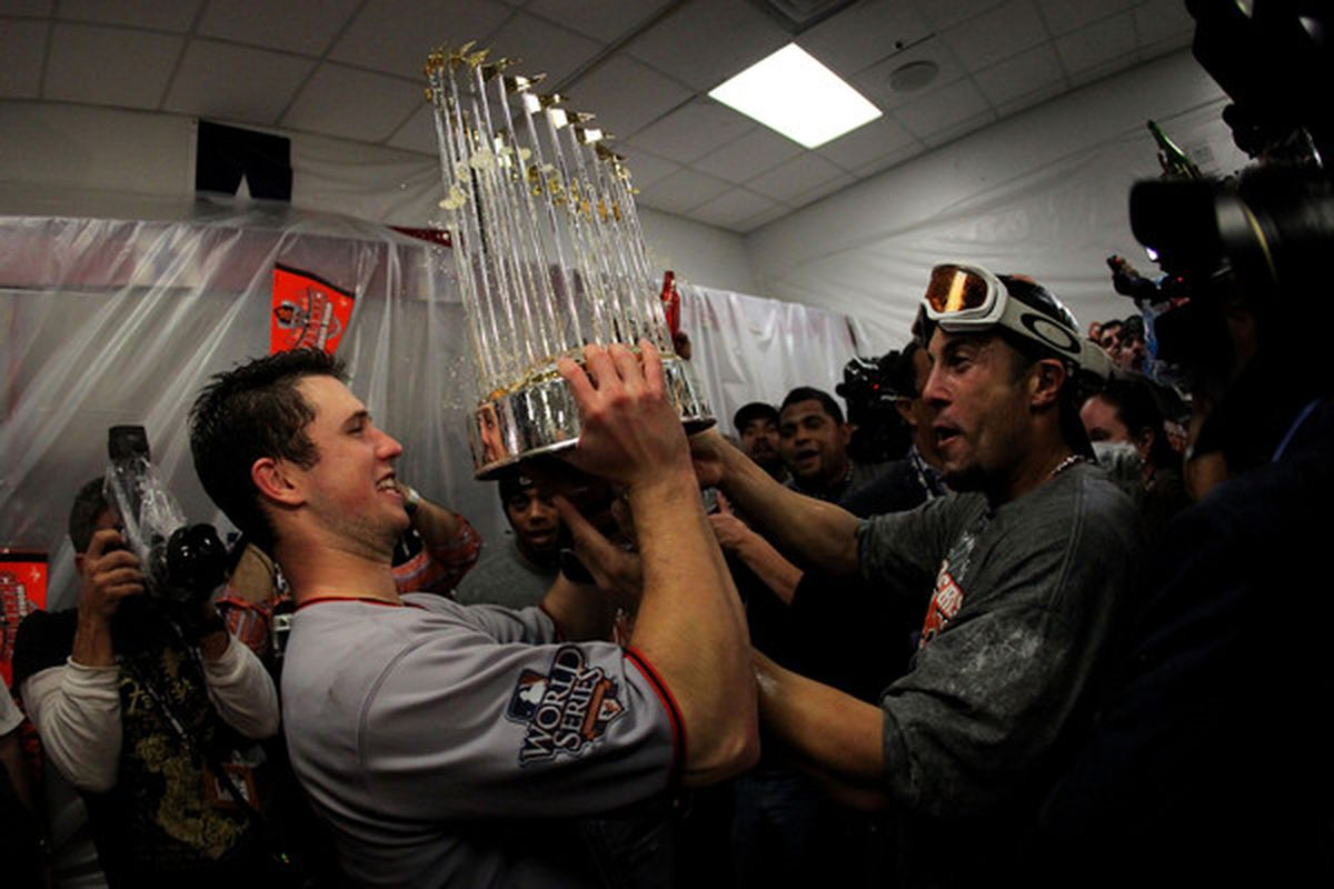 The most expensive thing in this picture is probably the trophy.