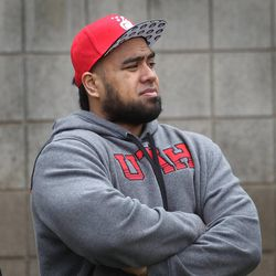 University of Utah's Star Lotulelei watches the Utah football spring game, April 20, 2013, in Salt Lake City. For roughly 20 years, Utah has emphasized its ability to recruit polynesian players.