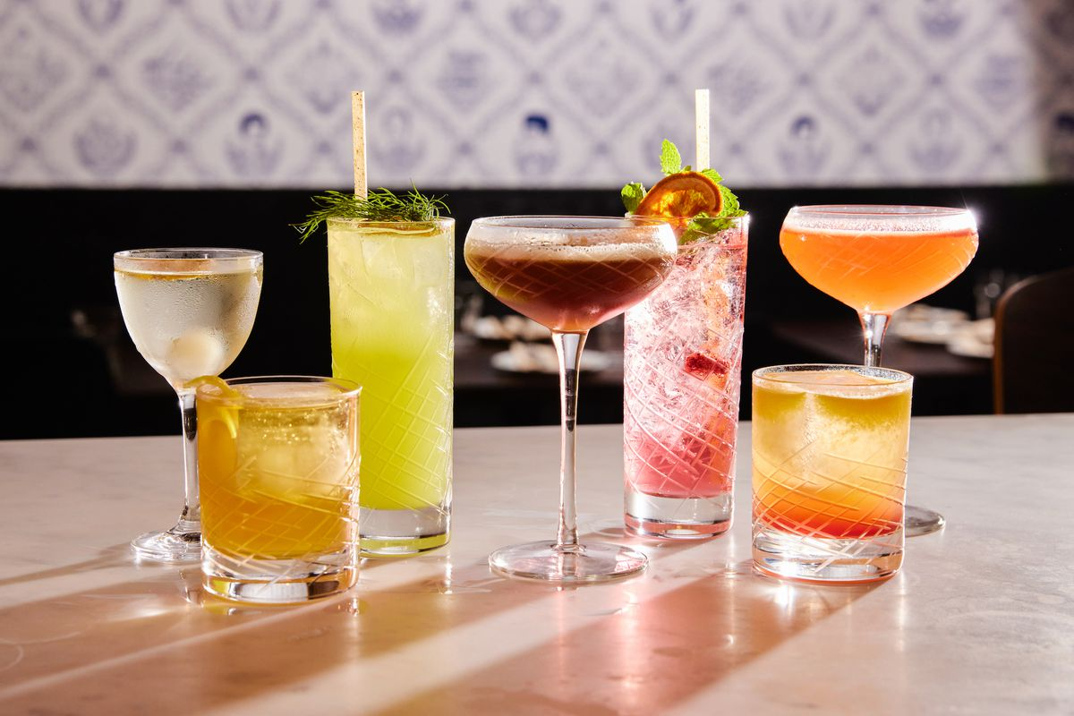 A group of cocktails from Fiorella Sunset