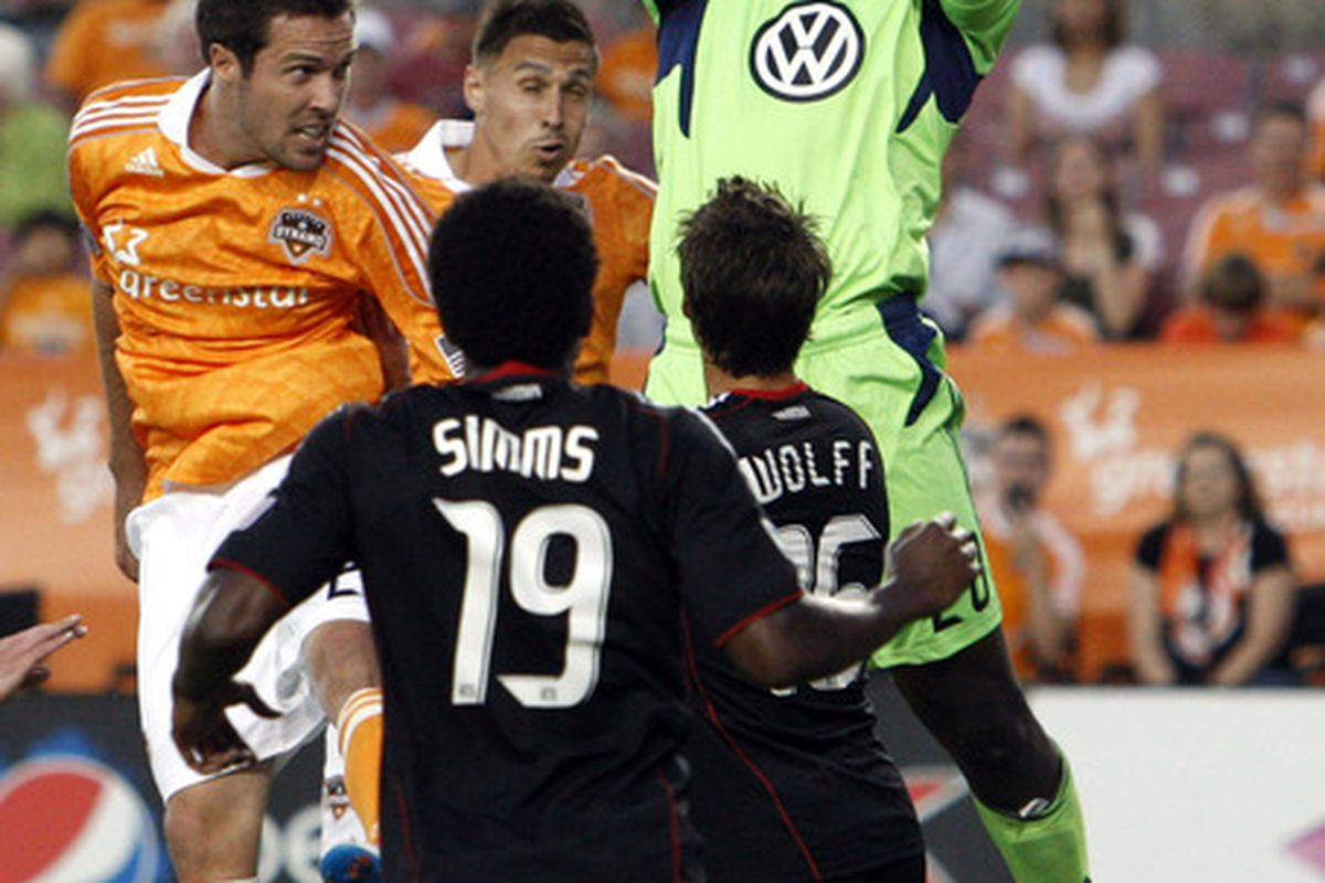 Bill Hamid didn't have his best game for United last night.