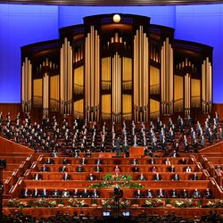 The Conference Center organ is photographed during the Saturday evening session of the 191st Semiannual General Conferenceon Saturday, Oct. 2, 2021.