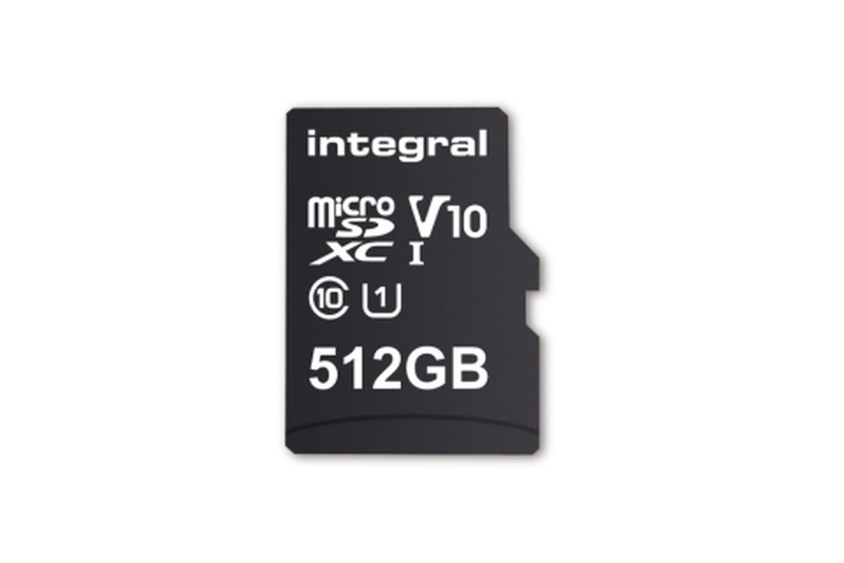 The first 512GB microSD card is arriving next month