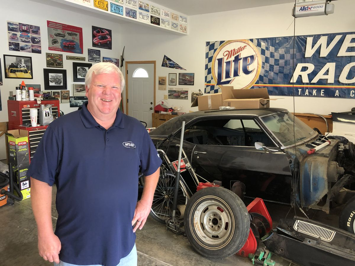Brian Murphy is restoring his first car, a 1969 Chevy Camaro Z28 he bought used when he was 16.
