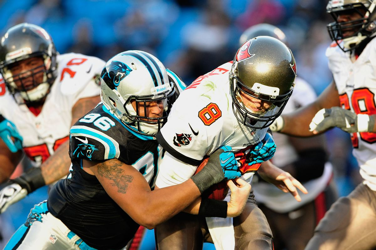So many Buc Lineman in the picture and Glennon getting sacked...  What the Meep is going on?!