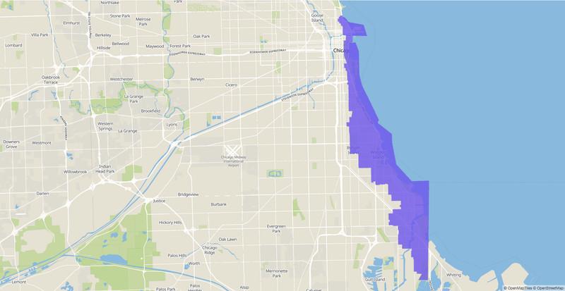 Illinois Senate 13th District map.