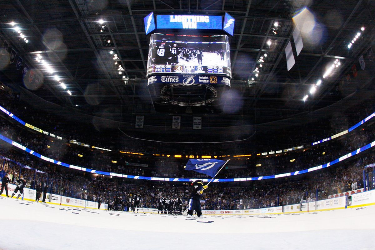 TAMPA, FL - The next time you see the inside of the St. Pete Times Forum, it's going to look very different. What changes would you make?  (Photo by Justin K. Aller/Getty Images)