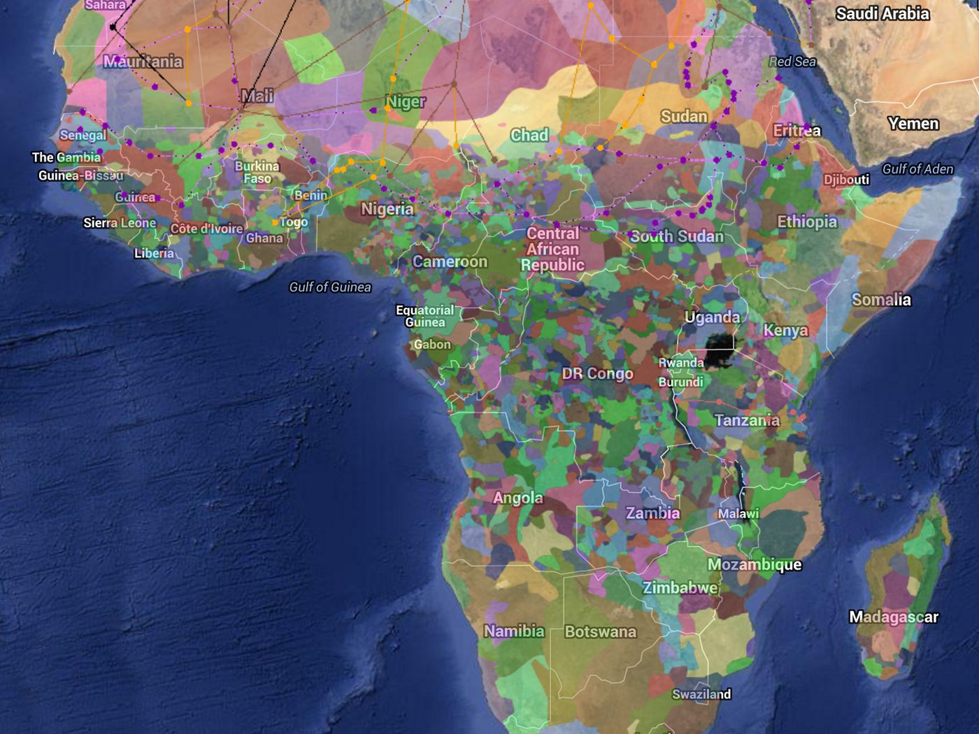 Harvard Africa Map A fascinating color coded map of Africa's diversity   Vox