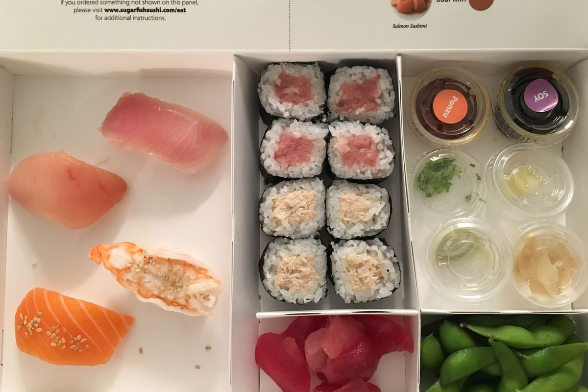 despite delivery sugarfish is still pretty hard to get eater ny