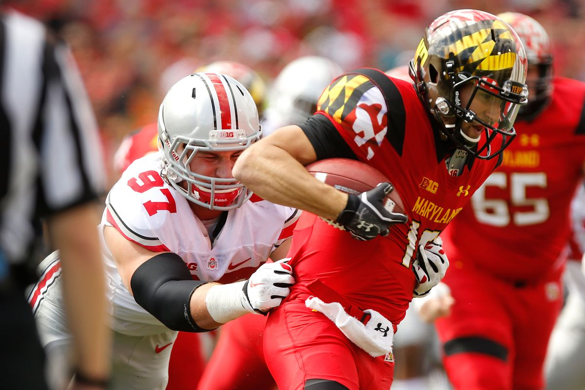 Joey Bosa helped lead the Ohio State defense to their first Big Ten victory of the season over Maryland.