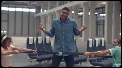 Screen Shot 2019 02 12 at 3.30.18 PM - Giannis Antetokounmpo is also good at showing airplane safety precautions