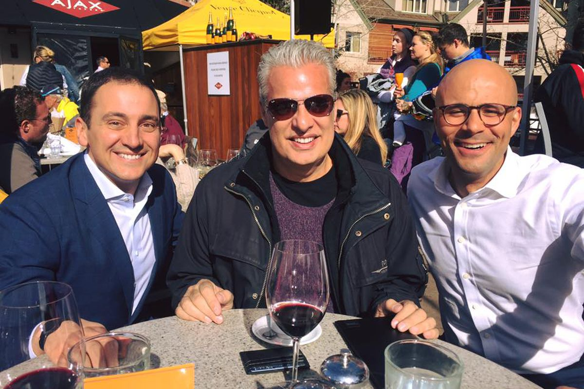 Eric Ripert with with Csaba Oveges and Carlton McCoy at Ajax Tavern