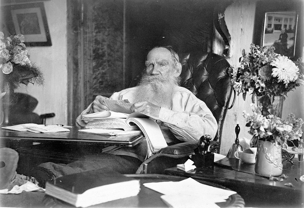 Portrait Of The Author Count Lev Nikolayevich Tolstoy (1828-1910) On 80th Birthday