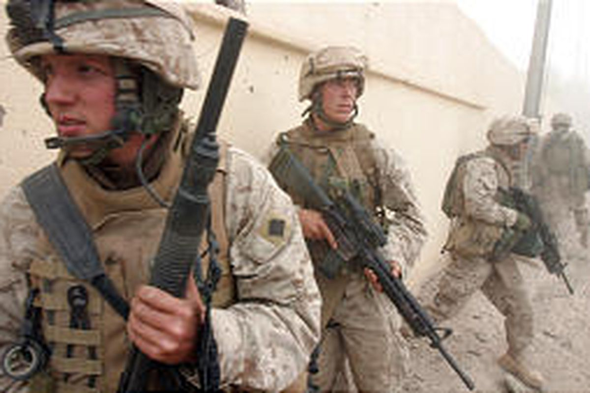 U.S. officials have hinted that troop levels in Iraq could dip below 100,000 in 2006.<BR>