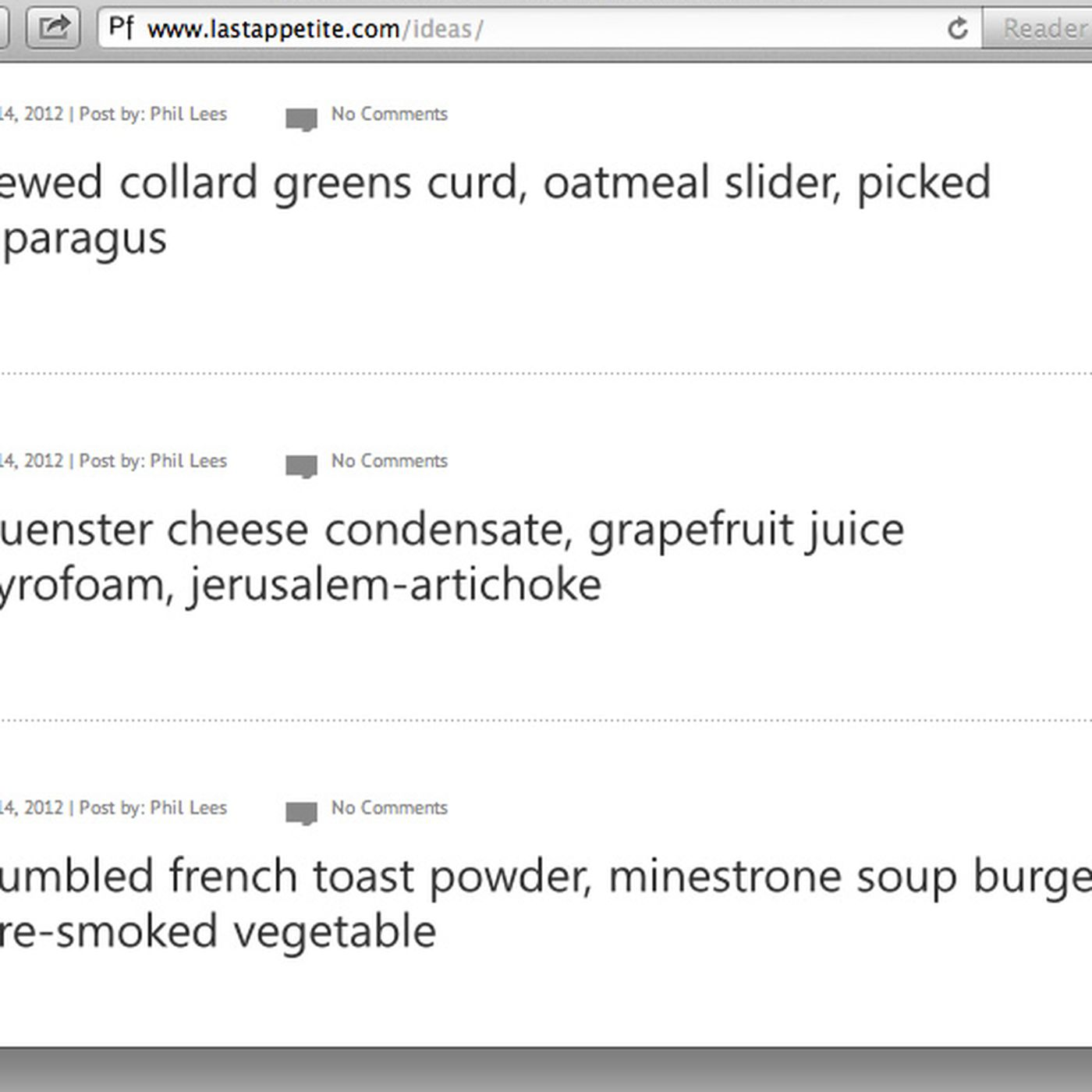 Website of the Day: Food Idea Generator - Eater