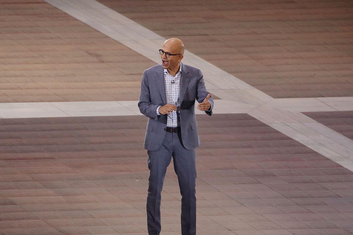 Microsoft CEO Satya Nadella onstage