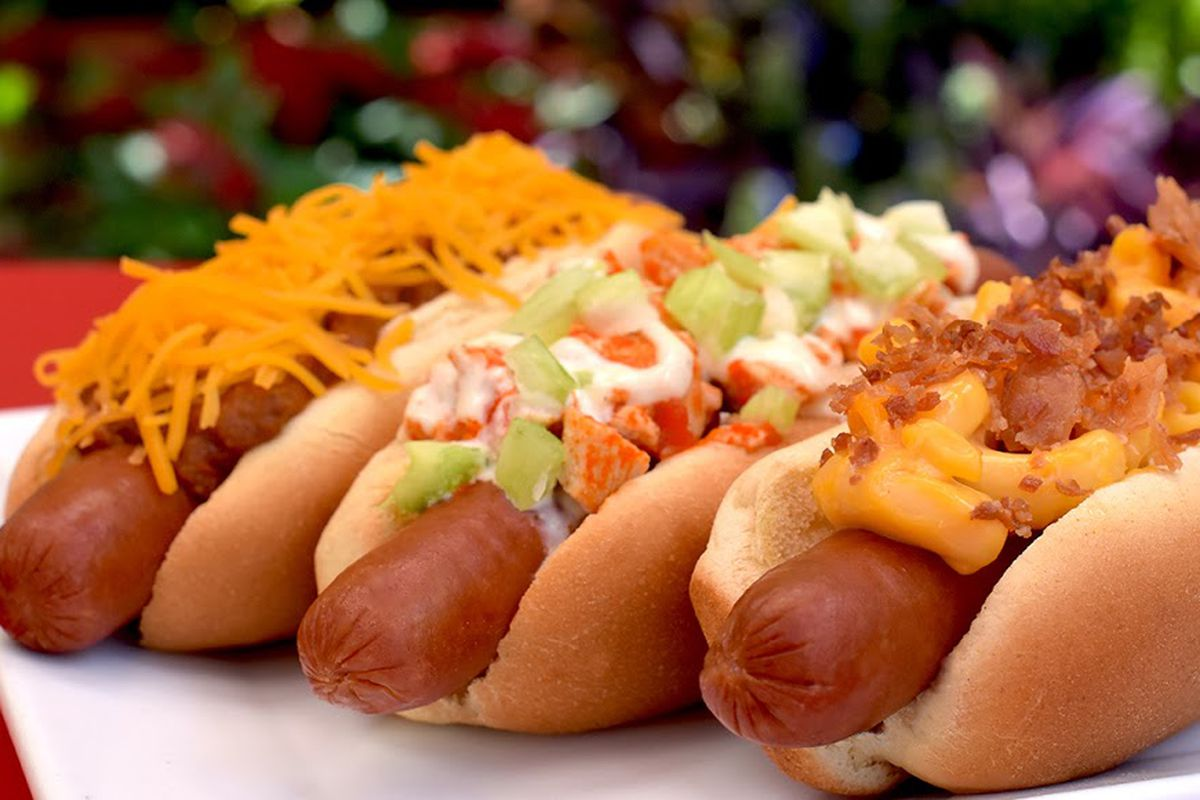 Three charbroiled, Sahlen's brand hot dogs, on the new menu at Weenies Charbroil.