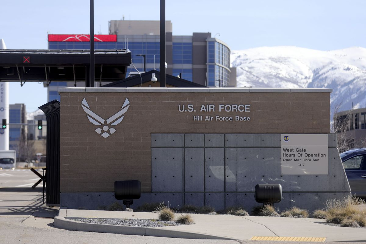 West Gate entrance to Hill Air Force Base in Clearfield on Thursday, March 5, 2020.