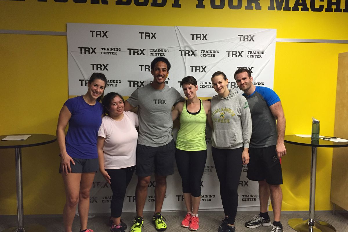 Proof of life after Miguel Vargas's class at the TRX Training Center