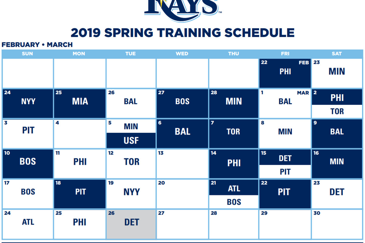 Phillies 2020 Spring Training Schedule.Tampa Bay Rays Announce 2019 Spring Training Schedule Draysbay