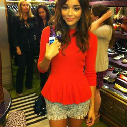 Ring my Bell blogger and Revenge actress Ashley Madekwe hosted the festivities at Tory Burch