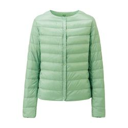 """<strong>Uniqlo</strong> Ultra Light Down Compact Jacket, <a href=""""http://www.uniqlo.com/us/women/outerwear/ultra-light-down/compact-jackets-and-vests/women-ultra-light-down-compact-jacket-127213.html#50"""">$59.90</a>"""