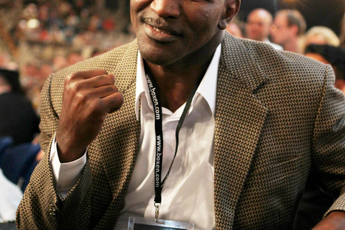 Evander Holyfield may not face Alexander Povetkin in December. Or he may. It's a real mystery. (Photo by Boris Streubel/Bongarts/Getty Images)