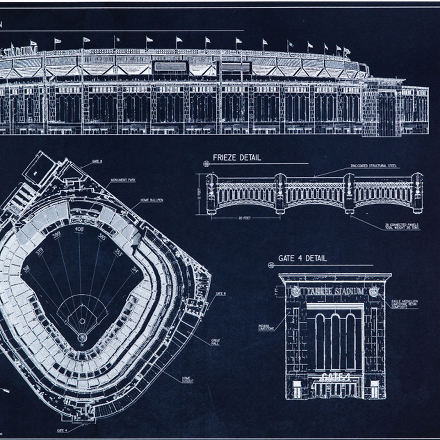 Ballpark blueprints yankee stadium pinstripe alley malvernweather Image collections