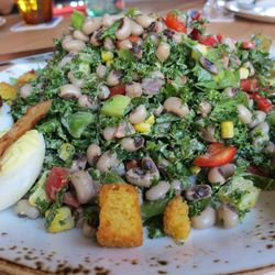 Traditional Texas Caviar gets an update with shredded kale and deviled eggs.