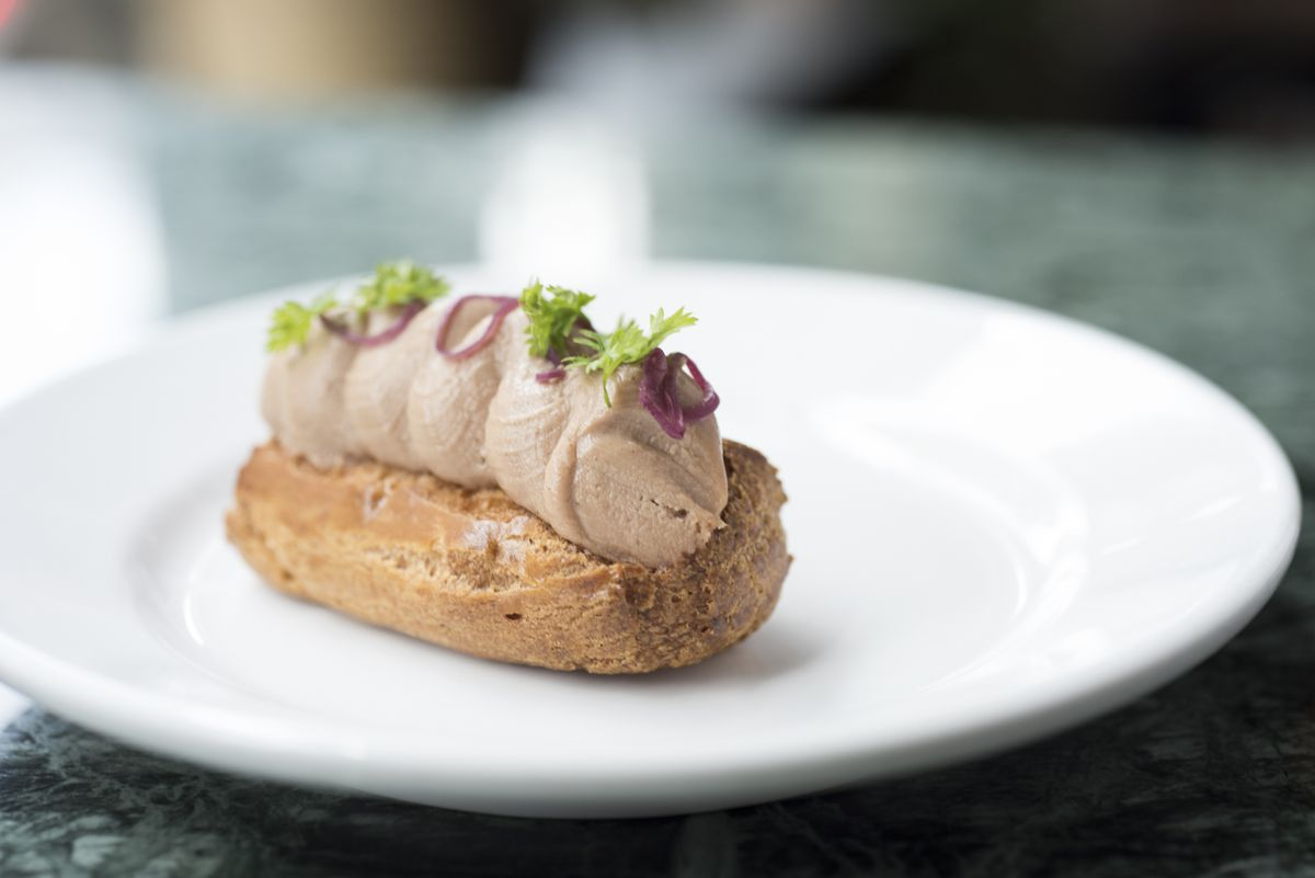Fauntleroy's chicken liver eclair