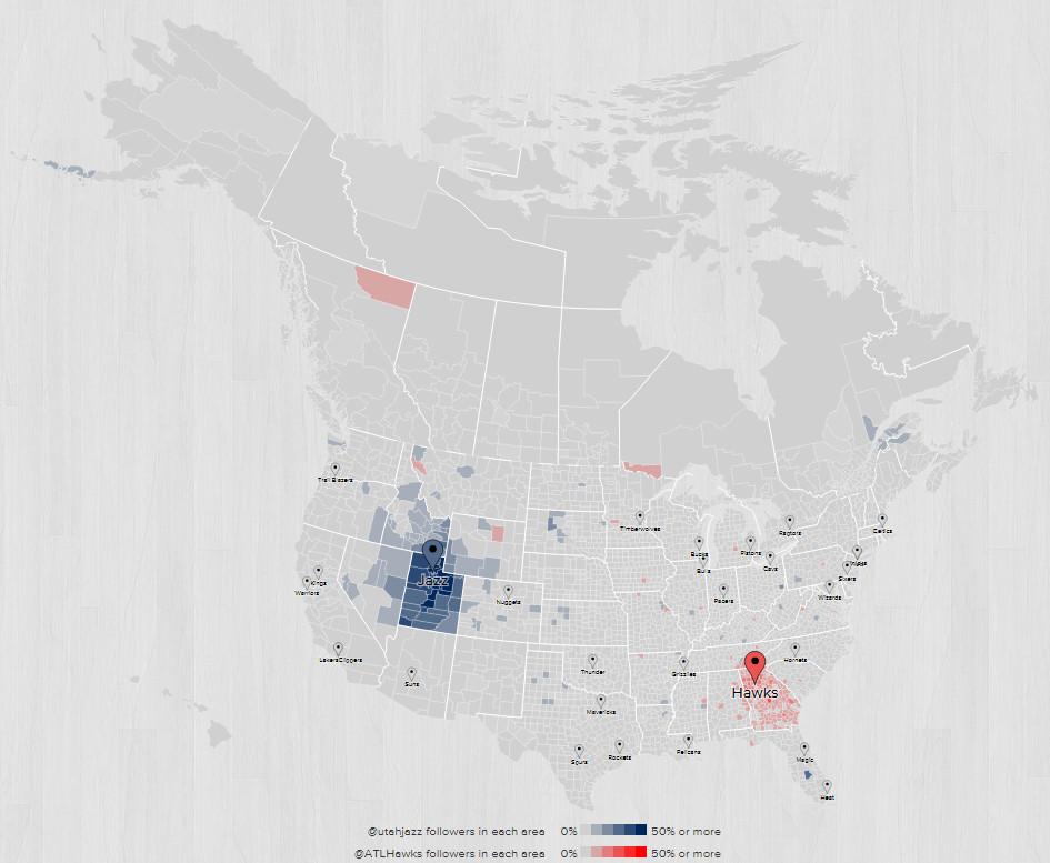 2015 2016 Fanbase Map Atlanta Utah