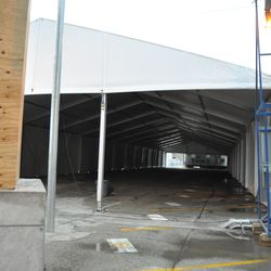 A look inside the VIP/players parking tent -