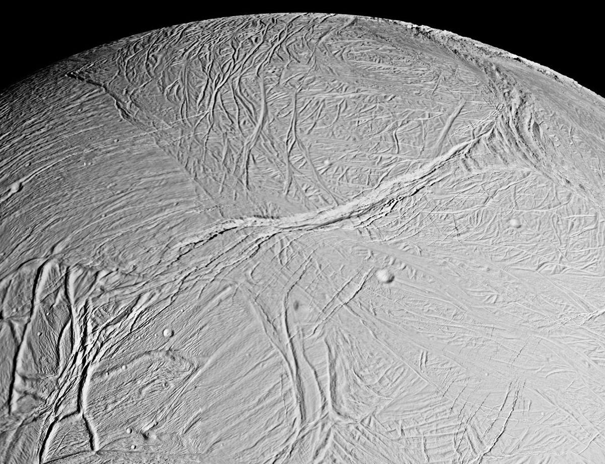 enceladus ice surface