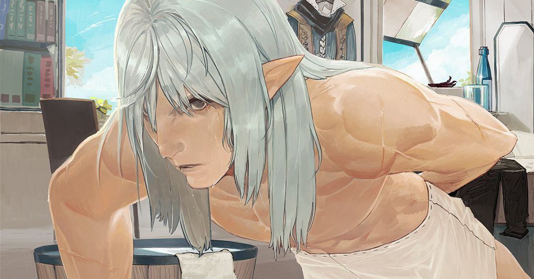 يثبت فن Final Fantasy 14 الترويجي أن Estinien يستحم 1
