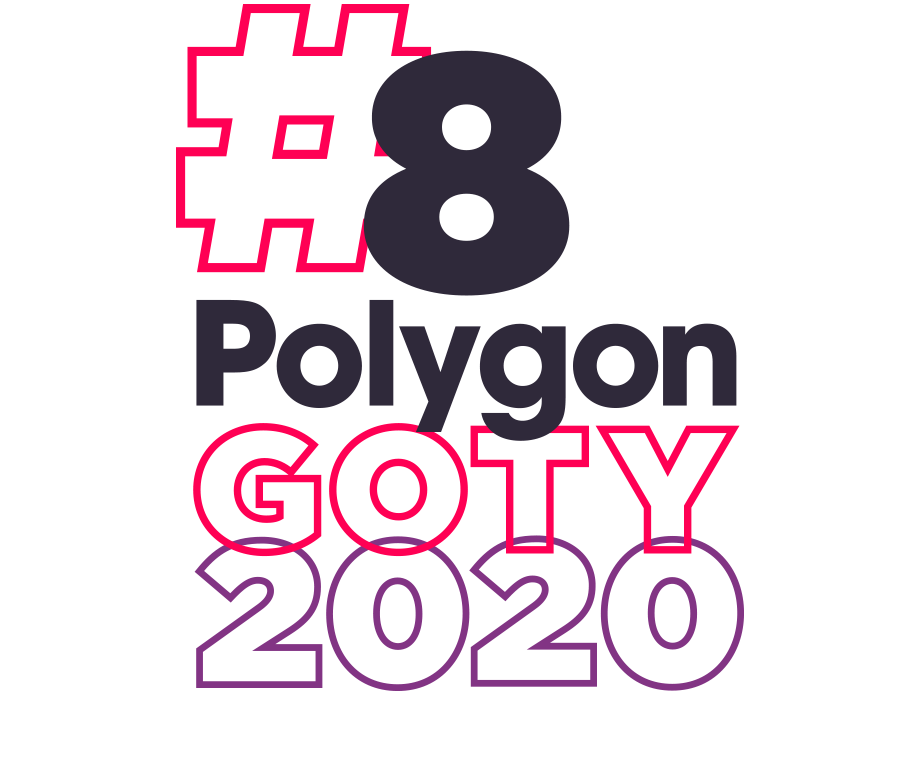 Graphic layout of the words #8 Polygon GOTY 2020