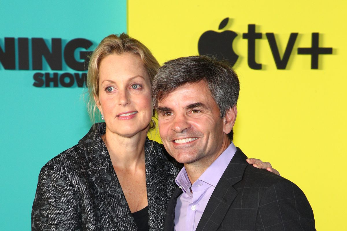 """Ali Wentworth and George Stephanopoulos attend Apple TV+'s """"The Morning Show"""" World Premiere at David Geffen Hall on October 28, 2019 in New York City."""
